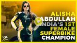 Alisha Abdullah - India's first superbike champion - KreedOn Alisha-Abdullah-KreedOn