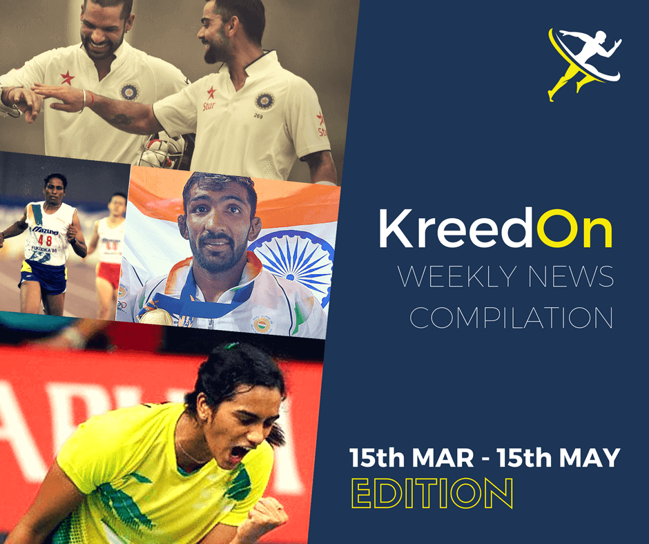 `Indian Sports News - KreedOn Weekly - March/Apr/May Editions