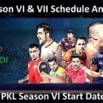 Pro Kabaddi League Season VI and VII dates are out!!