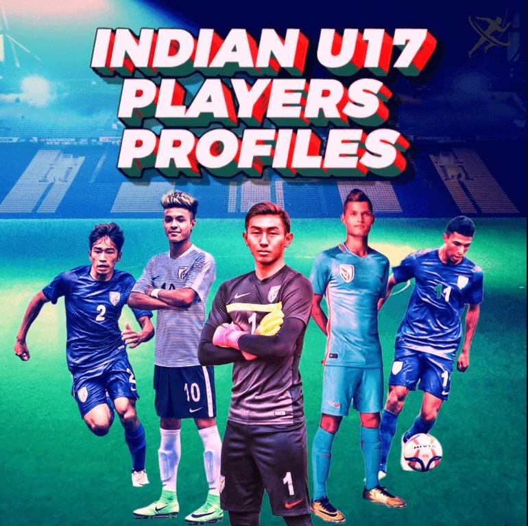 Indian football team for fiafa u17 worldcup by KreedOn|U-17-FIFA-World-cup-kreedon|