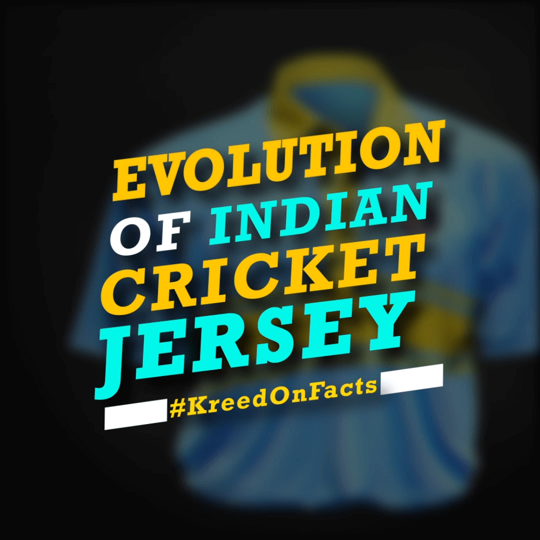 Evolution of Indian Cricket Jersey- by KreedOn