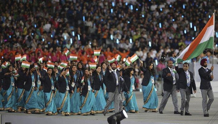 Indian athletes kreedon|indian contingent kreedon|indian athletes kreedon