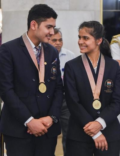 Anish Bhanwala and Manu Bhaker kreedon