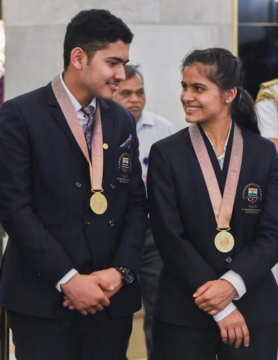 Anish Bhanwala and Manu Bhaker kreedon