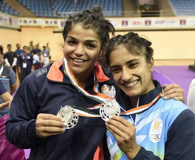 Sakshi malik and vinesh - KreedOn