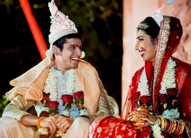 Saurav Ghosal with wife Diya Pallikal