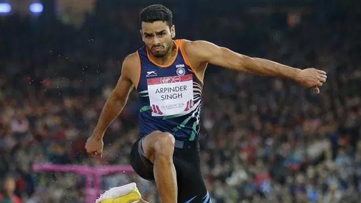 Indian Triple Jumper, Arpinder Singh at an event