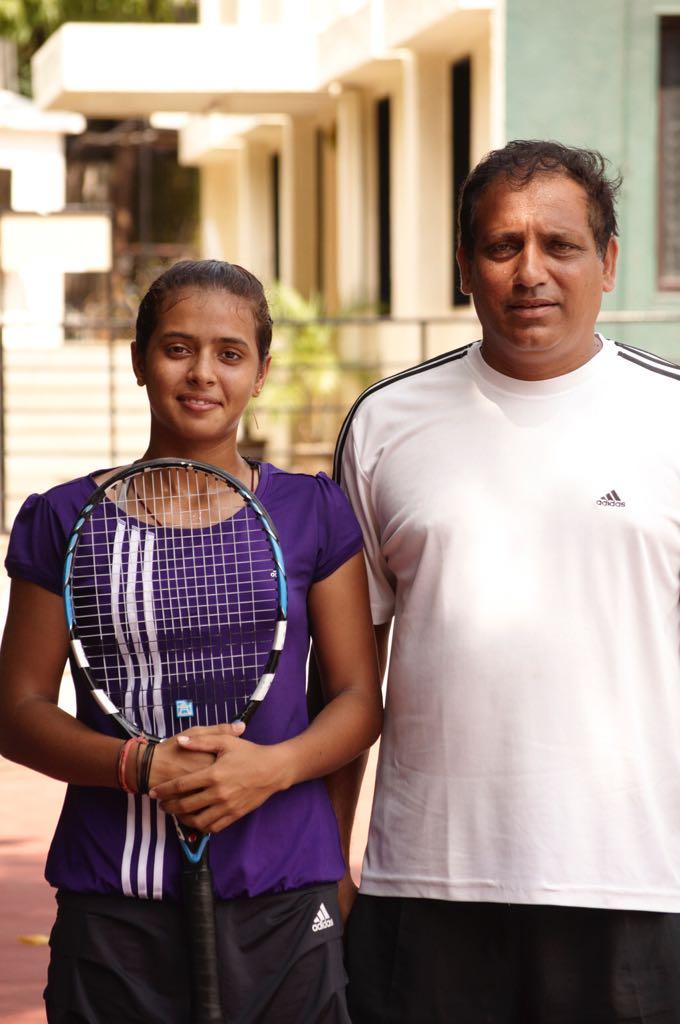 ankita raina kreedon with coach Hemnat Bendre