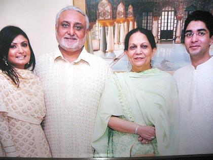 Abhinav Bindra with his family