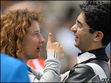 Abhinav Bindra with coach Gabby