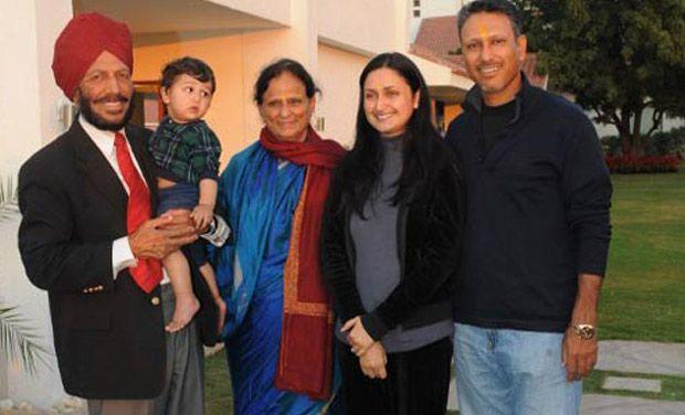 Milkha Singh with his family KreedOn