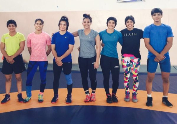 Phogat sisters with their brother