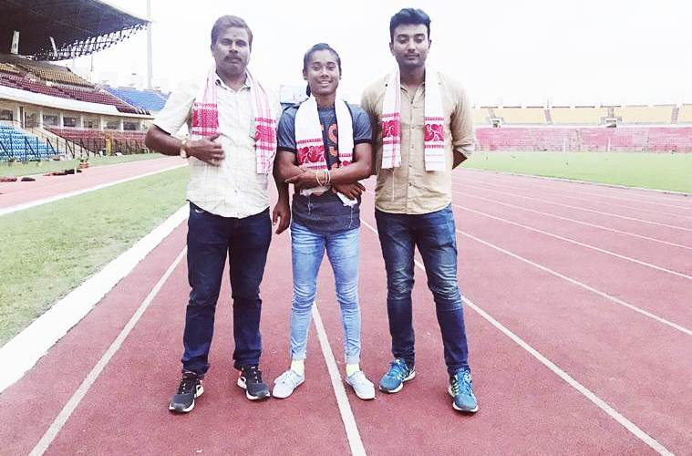 hima das with her coaches KreedOn