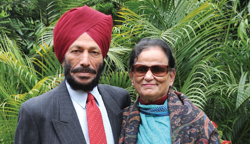 Milkha Singh with his wife