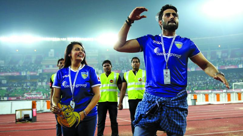 abhishek bachchan football team on KreedOn