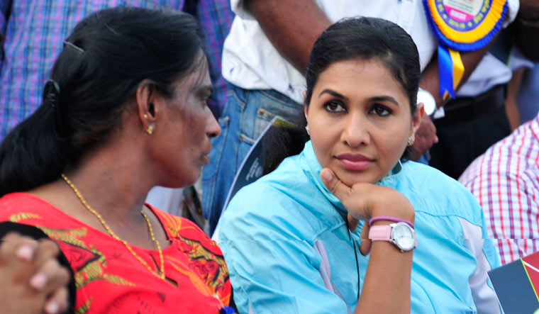 anju bobby george and pt usha on kreedOn
