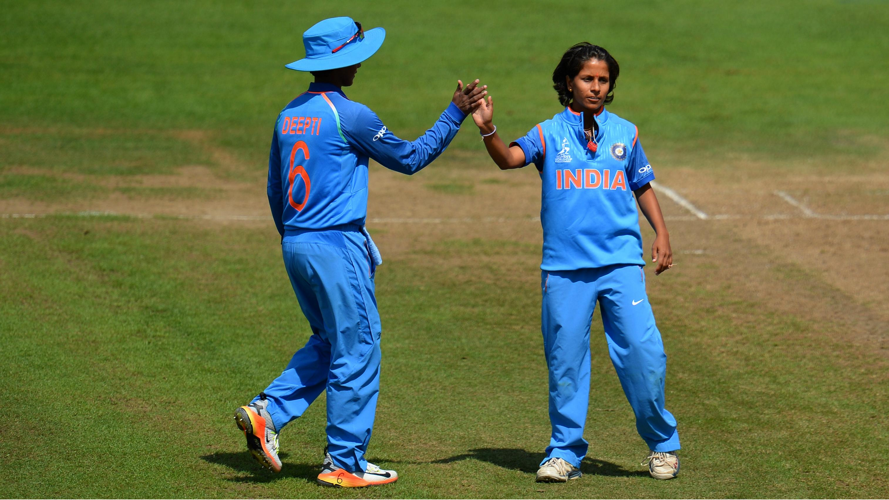 Poonam with a teammate