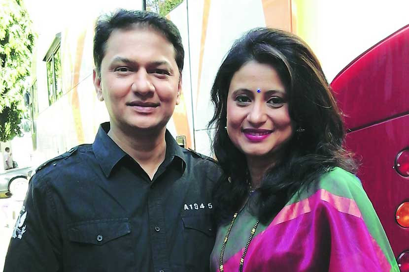 Anjali with her husband, Mandar Bhagwat