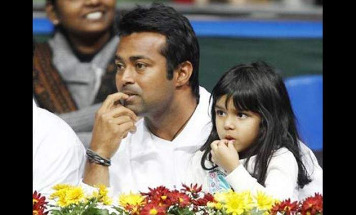 leander paes with daughter