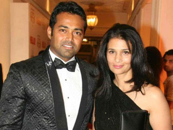 leander paes with ex wife