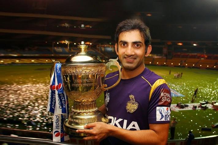 gautam gambhir ipl trophy