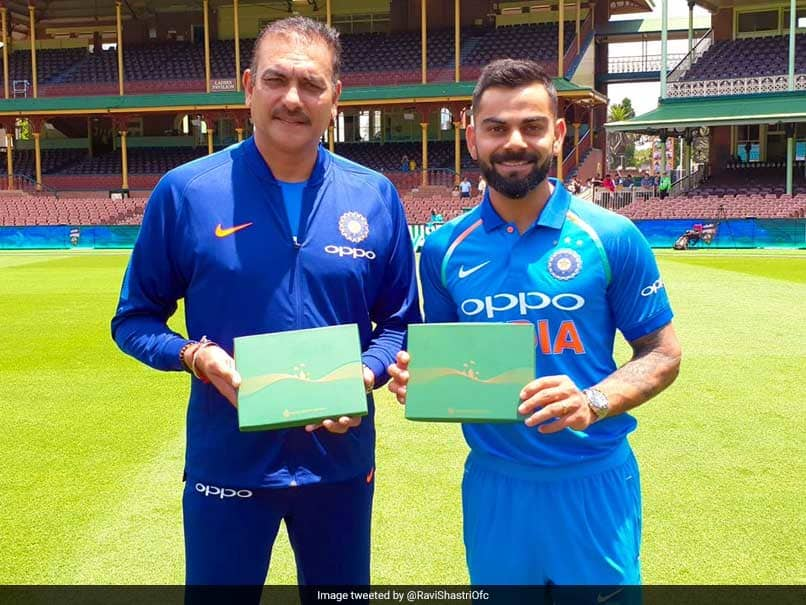 ravi shastri with kohli