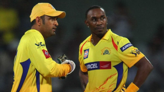 Dhoni Bravo Chennai Super Kings