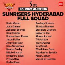 Sun Risers Hyderabad, IPL 2021, KreedOn