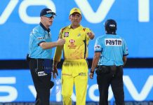 MS Dhoni furious during CSK vs RR match