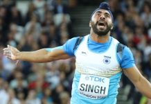 Davinder Singh Kang in Asian Championships 2019