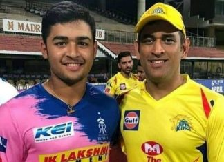 Riyan Parag and MS Dhoni IPL