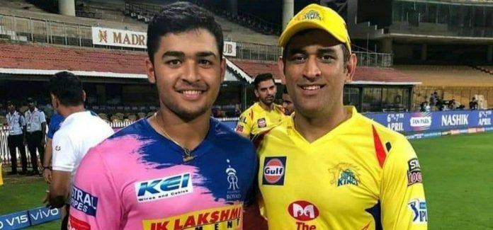 Riyan Parag and MS Dhoni IPL