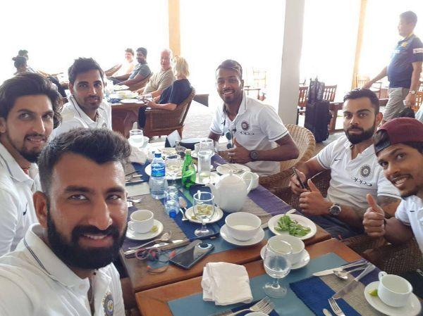 Team India Eating KreedOn