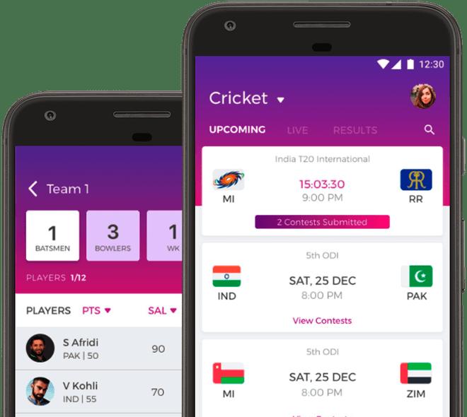 Fantain top fantasy cricket apps KreedOn