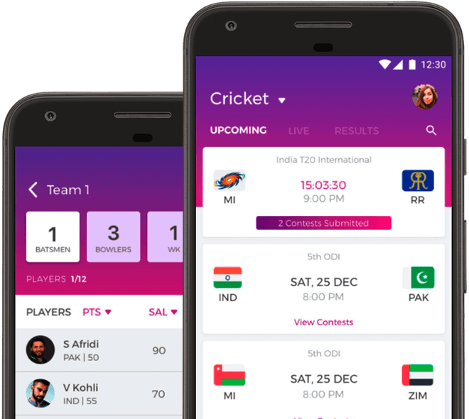 Fantain top fantasy cricket apps KreedOn