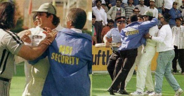 Biggest cricket fights kreedon: Inzamam beating the spectators