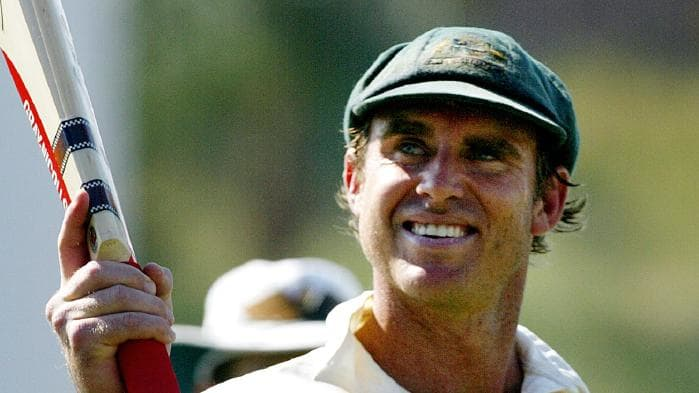 Highest test score by Matthew Hayden (380) kreedon