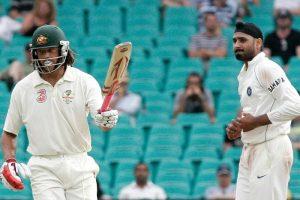 Harbhajan Singh and Andrew Symonds