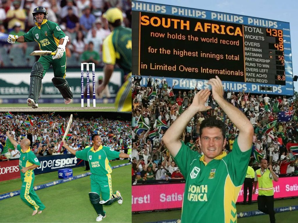 Highest team score in ODI Kreedon: South Africa's historic run chase vs Australia, 2006