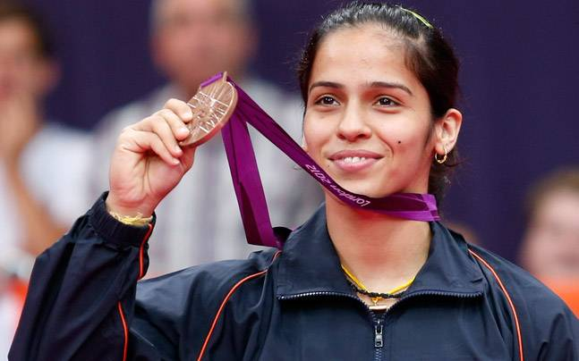 Saina with at the 2008 Beijing Olympics Kreedon