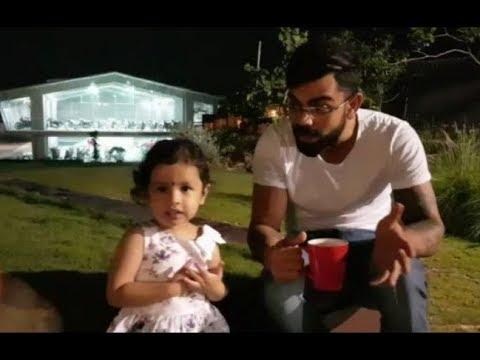 Ziva Dhoni with Virat kohli Kreedon