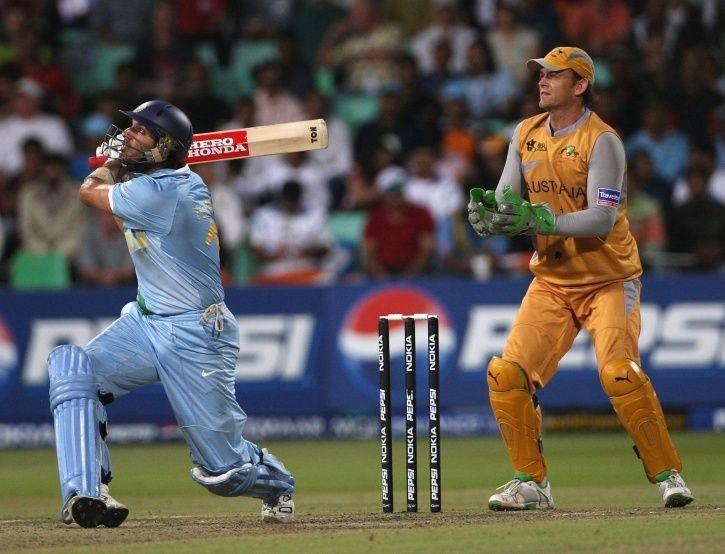 Yuvraj Singh 119m six against Brett Lee kreedon