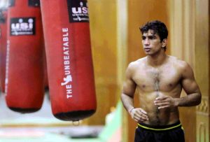 Indian boxers Jitender Kumar