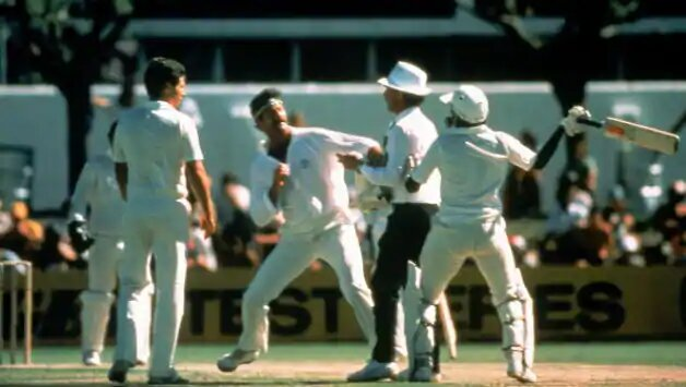 Biggest cricket fights kreedon: Javed miandad vs dennis lillee