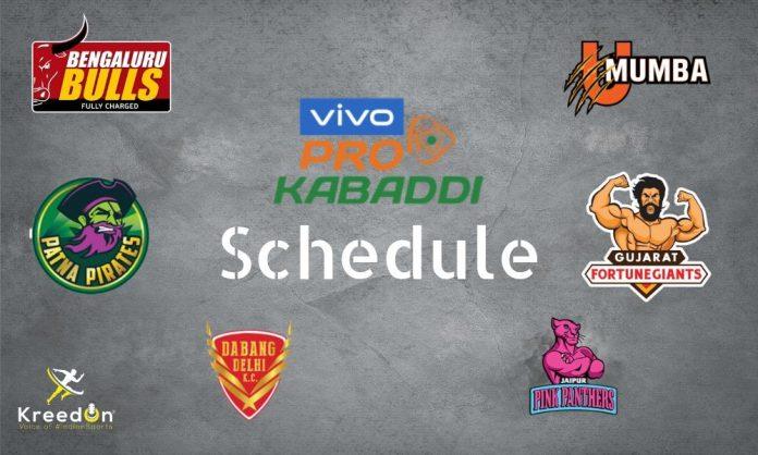 Pro Kabaddi Schedule 2019