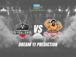 Dream11 HAR vs GUJ Pro Kabaddi League 2019
