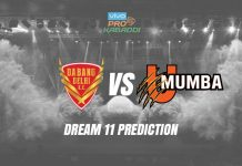 U Mumba vs Dabang Delhi Dream11 Prediction