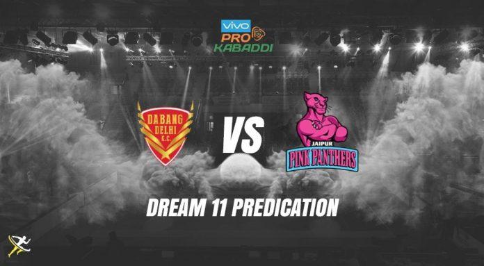 Dream11 DEL vs JAI Pro Kabaddi League 2019