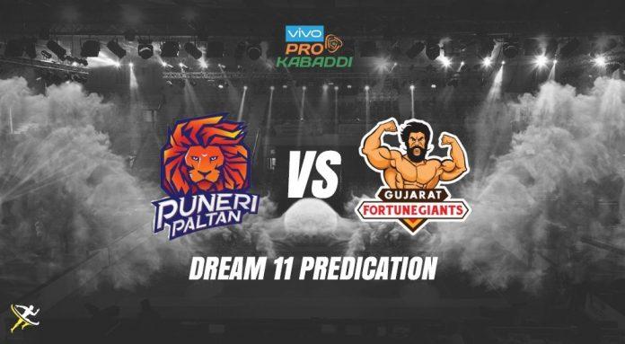 Dream11 PUN vs GUJ Pro Kabaddi League 2019