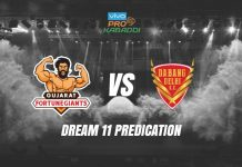 Dream11 DEL vs GUJ Pro Kabaddi League 2019